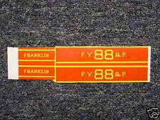 Sticker Set for Gilbert Franklin Locomotive
