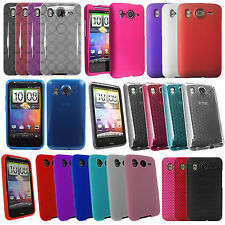 For HTC Desire HD Soft Silicone Hydro Gel Circle Hard Hybrid Back Case Cover