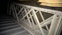 Used Grey Metal Pallet Racking Upright Warehouse Storage Shelving Heavy Duty