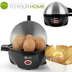 Dihl Egg Cooker Boiler Steamer 7 Eggs Electric Brushed Steel