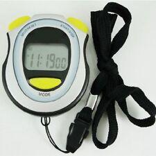 LCD Chronograph Digital Timer Stoppuhr Sport Zähler Pedometer Alarm Stopwatch DE