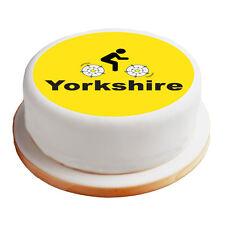 "Yorkshire Cycling - 8"" Pre-Cut Round Cake Topper Premium Sugar Icing Sheet"
