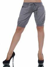 SEXY Pants  kurze Hose Shorts Bermudas mit Taschen Coffee Grau Größe L 40
