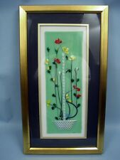 """Vase In The Window"" Blown Glass Art Framed Under Glass - Beautiful"