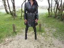 Long Pvc Faux Cuir Femmes Manteau Taille 12 Par Dolce Elavir