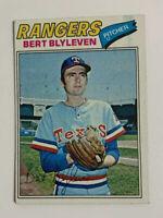 1977 Bert Blyleven # 630 Topps Baseball Card Texas Rangers HOF