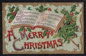 Antique Vintage Postcard A Merry Christmas 1911