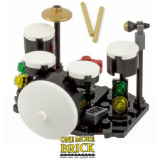 LEGO Drum Kit - Inc Drums, Bass Drum, Symbol, Microphone, Drumsticks & Seat. NEW