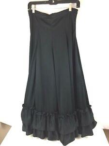 "BAL TOGS Black Flamenco Skirt Size XL (28"" - 30"" Waist) Style #9100"