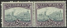 SOUTH AFRICA 1933 UNION BUILDINGS 2D GREY AND DULL PURPLE PAIR