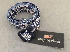 NWT XL Vineyard Vines Blue Floral Bottle Opener Belt Royal Ocean Beach Hawaiian