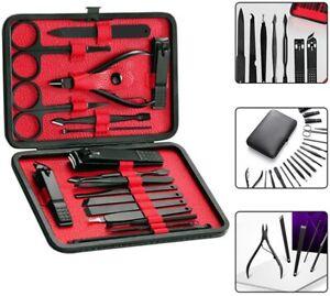 18 tlg Nagelschere Set Nagelknipser Maniküre Pediküre Nagelzange Nagelpflege-Set