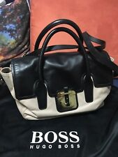 Hugo Boss Satchel. Genuine Leather Bag.  Black And Nude Color.