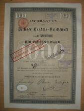 Berliner Handels - Gesellschaft  1891  Berlin    ING  BHF Bank