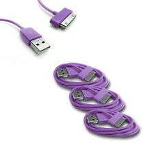 3X 3FT USB 30 PIN PURPLE CABLE DATA SYNC CHARGER SAMSUNG GALAXY TAB P3100 P3110