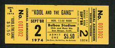Original 1974 Kool and the Gang Unused Full concert ticket Ladies Night
