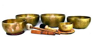 Klangschale Set Klangmassage bol chantant singing bowl 5 St. 6135g Hörprobe S427