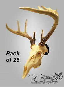 25 Pack Metal European Mount Deer Skull Hanger Bracket Hook
