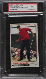 2001 Sports Illustrated For Kids Athlete Of The Year Tiger Woods ROOKIE RC PSA 7
