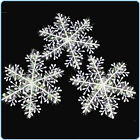 30PCS Plastic Christmas White Snowflakes Xmas Tree Decorations Ornaments Parties