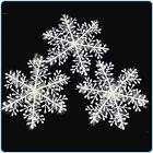 30PCS Plastic Christmas White Snowflakes Xmas Tree Decorations Ornaments Parties