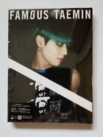 TAEMIN FAMOUS (First Limited Edition A) digipack CD+PHOTOBOOK 60P From Japan