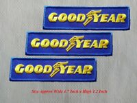 3 pcs GOODYEAR MOTOR Racing Car Patch Embroidered Iron or Sew on Coat/Jacket/bag