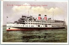 """1910s CANADA STEAMSHIP LINES Postcard """"S.S. ST. LAWRENCE"""" Steamer Unused"""
