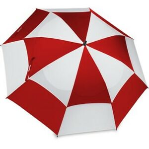 "*Brand New* Bag Boy 62"" single canopy golf Umbrella - Wind Vent - Red/White"
