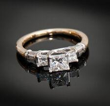 18K Gold Princess Cut Diamond Engagement Wedding Ring 1.05 TCW W/APPRAISAL $7360