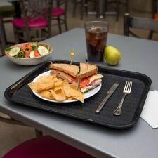 "Carlisle Ct141803 Cafe 14"" x 18"" Black Standard Plastic Fast Food Tray - 12/Case"