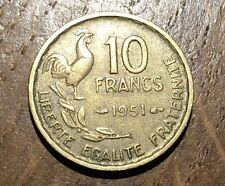 PIECE DE 10 FRANCS GUIRAUD 1951 (129)