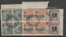 3 BLOCKS OF 4 STAMPS FROM LIBERIA 1906.