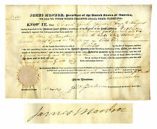 James Monroe Land Grant Signed for Property in Ohio