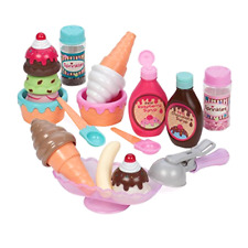 Pretend Play Food Ice Cream Set of 21 Pieces Toys for Kids Ages 3 Years Old Up