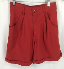 Hang Ten Red 100% Cotton Shorts Womens Size 7/8 NWT Vintage See Measurement Ph