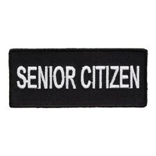 Senior Citizen Black & White Patch, Funny Name Patches