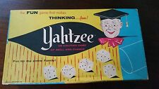 Vintage 1956 Yahtzee Dice Game E.S. Lowe Game of Skill and Chance Made In USA