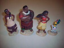 Disney PVC Figure or Cake Topper Set ~ Moana, Pua with Hei-Hei, Chief Tui, Sina