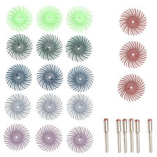 18Pcs 1Inch Radial Bristle Disc Brush + 6 Mandrel Rotary Adapter Shank:3Mm L2Y1