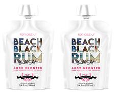 Lot of 2 Beach Black Rum Tanning Bed Lotion Tan Asz U 3.4 oz