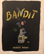 "BOUIDOIRES ""BANDIT""  III UN PARFUM DE ROBERT PIGUET PARIS  AFFICHETTE"
