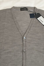 JOHN SMEDLEY Kris Cardigan Grey X Large XL Knitted Merino Wool BNWT