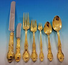 Richelieu by Tiffany Sterling Silver Flatware Set Service 84 pcs Dinner Vermeil