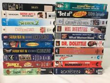 20 VHS Lot Comedy Rom-Com Children's Cartoon Mixed Genre Video Cassette Tape Set