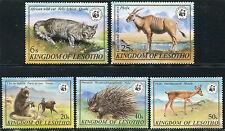 Lesotho #351-355 Nice Nie - Wwf World Wildlife Fund Tiere B0138