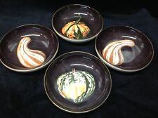 "WILLIAMS SONOMA Harvest Pumpkin Set of (4) Dipping Bowls 5.5"""