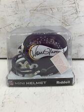 Warren Moon Signed Mini Helmet Minnesota Vikings