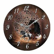 HORSE & WESTERN GIFTS HOME DECOR CELTIC HORSES WALL CLOCK