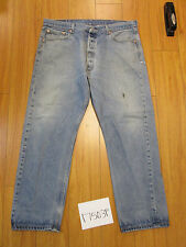 used Levis 501 destroyed feathered grunge jean tag 40x32 meas 36x28.5 17503F